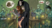 Snape and Hermione Granger. Potions Class