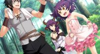 anime walking through the forest, smiling girl happy Bunny Black 2 English Patch CG Gallery